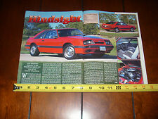 1985 MUSTANG GT 5.0 - ORIGINAL 1997 ARTICLE