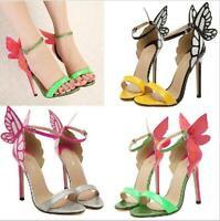 Womens Wing Roma High Heel Stilettos Butterfly Sexy Ankel Strap Summer Sandals
