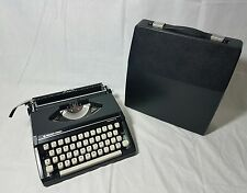 *Cleaned & Oiled* Vintage Retro Silver Reed Silverette Black Typewriter Portable