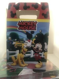 Mickey Mouse Treat Favor Bags Boxes *SET OF 10* Loot Goody Bags Party Favor Box