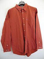 Tommy Hilfiger brand men's button up size 2XL 100% cotton red color check shirt
