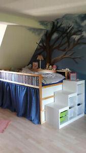 Hochbett IKEA KURA + Treppe TROFAST