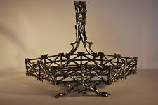 Victorian Silver/Epns Plated Basket - F.Brs - Fenton Brothers c. 1890 # 70