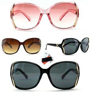 Damen Sonnenbrille Oversize Gläser Oval Quadrat Blogger Bling Strass Rennec R58