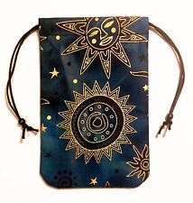 "Celestial Brilliant Star Tarot Bag 5""x7"" Drawstring Pouch Runes Crystals Dice"