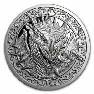 The Destiny Coin 2 - The Dragon - 2 oz .999 FINE Silver BU Round - BACKORDER