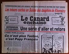 Le Canard Enchaîné 22/08/1984; Les trésors cachés en Suisse des dauphins de Khom