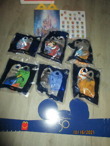 6 SET MCDONALDS 2021 DISNEY 50TH ANNIVERSARY #1 MICKEY MOUSE #9 MINNIE MOUSE