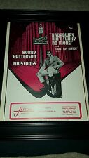 Bobby Patterson And The Mustangs Broadway Ain't Funky No More Rare Promo Poster