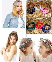 Paisley Hair Band Women Cute Bow Rabbit Ribbon Headband Wrap Paisley