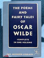 The Poems and Fairy Tales of Oscar Wilde Modern Library 1950s with DJ