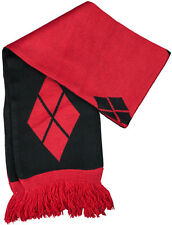 BATMAN - Harley Quinn Diamond Pattern 180cm Scarf (Ikon Collectables) #NEW