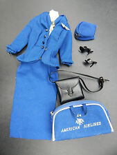 1961 vintage Mattel Barbie AMERICAN AIRLINES STEWARDESS outfit 984 complete nice
