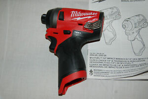 Milwaukee 2553-20 M12 Fuel  1/4in. Hex Impact Driver NO RESERVE