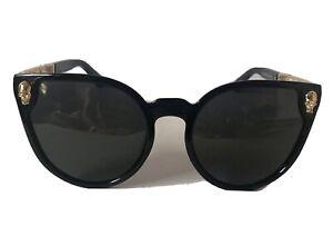 Black Gold Skull Sunglasses Cat Eye DH010  25-22-140 Preowned