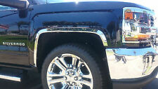 3910s 2015-2018 Chevrolet Silverado 1500 2500 3500 Stainless Steel Fender Trim