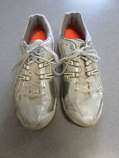 "Asics ""Gel Domain"" White, Silver and Gold Vollyball Shoes Women's 12 (eur 44.5)"