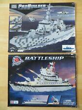 Mega Bloks 9760 Battle Ship & 9762 Destroyer ProBuilder Instruction Manuals Only