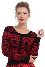 SALE VOODOO VIXEN Tess Nesting Doll Reindeer Cardigan Full Sleeve CAA2975 Xmas