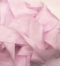 """50mm 100/% PURE SILK RIBBON RUCHED 2/"""" WIDE ~ PALE//PINK~COLOR ~"""