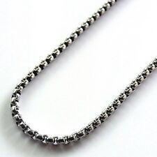 Halskette Edelstahl Kette 55 cm Erbskette 3 mm Bikerkette robust Ankerkette 0987
