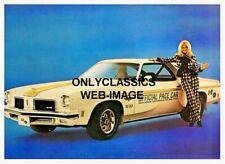 '74 Hurst Oldsmobile W30 Cutlass Allure Voiture Sexy Linda Vaughn Indy 500 Photo