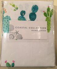 Coastal Collection • Cactus Parade Fabric Shower Curtain 72x72 Multi Color • NIP