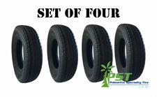 Four New Trailer King Trailer Tires ST 225/75R-15 10 PLY Load Range E (Set of 4)