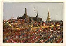 La thaïlande Asie Asia postcard Bangkok wat phra Keo traditionnelles temple temple