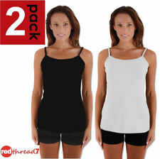 Spaghetti Strap Casual Solid Tops & Blouses for Women