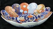 Large FUKAGAWA Japanese Imari fluted bowl - Meiji period - C 1910