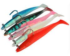 "5pcs Jig Head Soft Bait 31g 5.9"" Bass Carp Pesca Lead Swimbait Fishing Soft Lure"