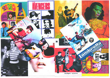 10 POSTCARDS. MOD, TWIGGY,  AVENGERS, POP ART, TV BATMAN