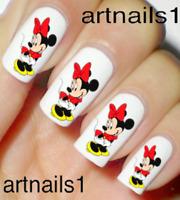 Minnie Mouse Disney Red Nail Art Water Decal Stickers Manicure Salon Mani Polish
