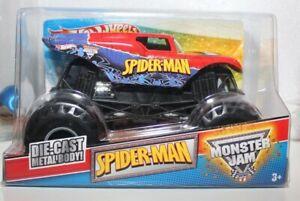 SPIDER-MAN HOT WHEELS MONSTER JAM TRUCK NEW IN PACKAGE 1/24