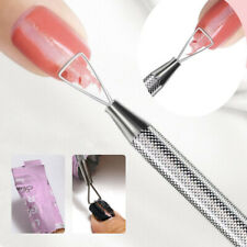 Triangle Stick Rod UV Gel Polish Remover Nail Art Cuticle Pusher Tool Stainless