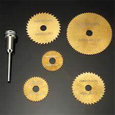 6X HSS Sierra Circular Cuchilla para Metal &   Corte Rotativo Mango Kit Oro