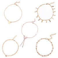 5x Womens Bead Chain Anklet Ankle Bracelet Barefoot Sandal Beach Foot Jewelry