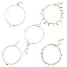 5pcs Boho Women Barefoot Sandal Beach Anklet Foot Chain Jewelry Ankle Bracelet
