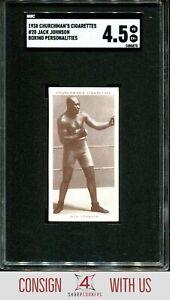 1938 CHURCHMAN'S CIGARETTES BOXING PERSONALITIES JACK JOHNSON SGC 4.5 A6735-870