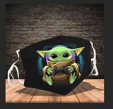 Baby-Yoda Gamer Video Game Control Headphone Face Mask