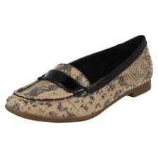 Zapatos planos de mujer de color principal marrón sintético Talla 39