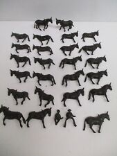 "Lot of 2 piece Plastic Horses ~ 1.87""x1.9"" ~ Scenery Diorama Crafting"
