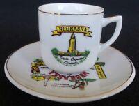 VINTAGE NEBRASKA STATE DEMITASSE SOUVENIR CUP & SAUCER STATE CAPITAL LINCOLN