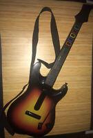 Red Octane Guitar Hero Sunburst Wireless Guitar PS2 Model: 95449.805 No Dongle