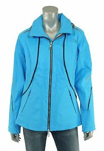 North Face Blue Bibi Leather Trim Softshell Insulated Ski Jacket M New