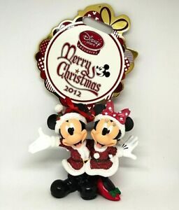 Disney Store Sketchbook 2012 Mickey Minnie Mouse Christmas Gift Hanging Ornament