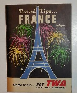 TWA Airlines 1960 Travel Booklet - France -