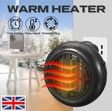 900W UK Plug-In Mini Space Heater Portable Electric Wall-outlet Furnace Radiator