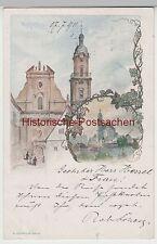 (81130) Künstler AK Neckarsulm, Kirche St. Dionysius 1899